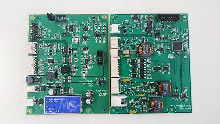 写真:電池残量予測基板/積算電流計基板